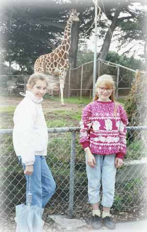 Missy with Lecia at the zoo