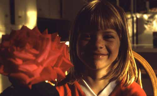 Missy with a red rose